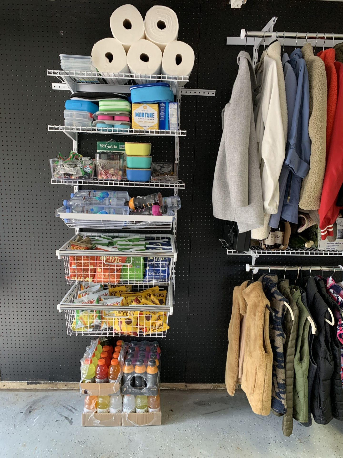 Luxury Organized Garage Make Over Designer Bags Dirty Diapers