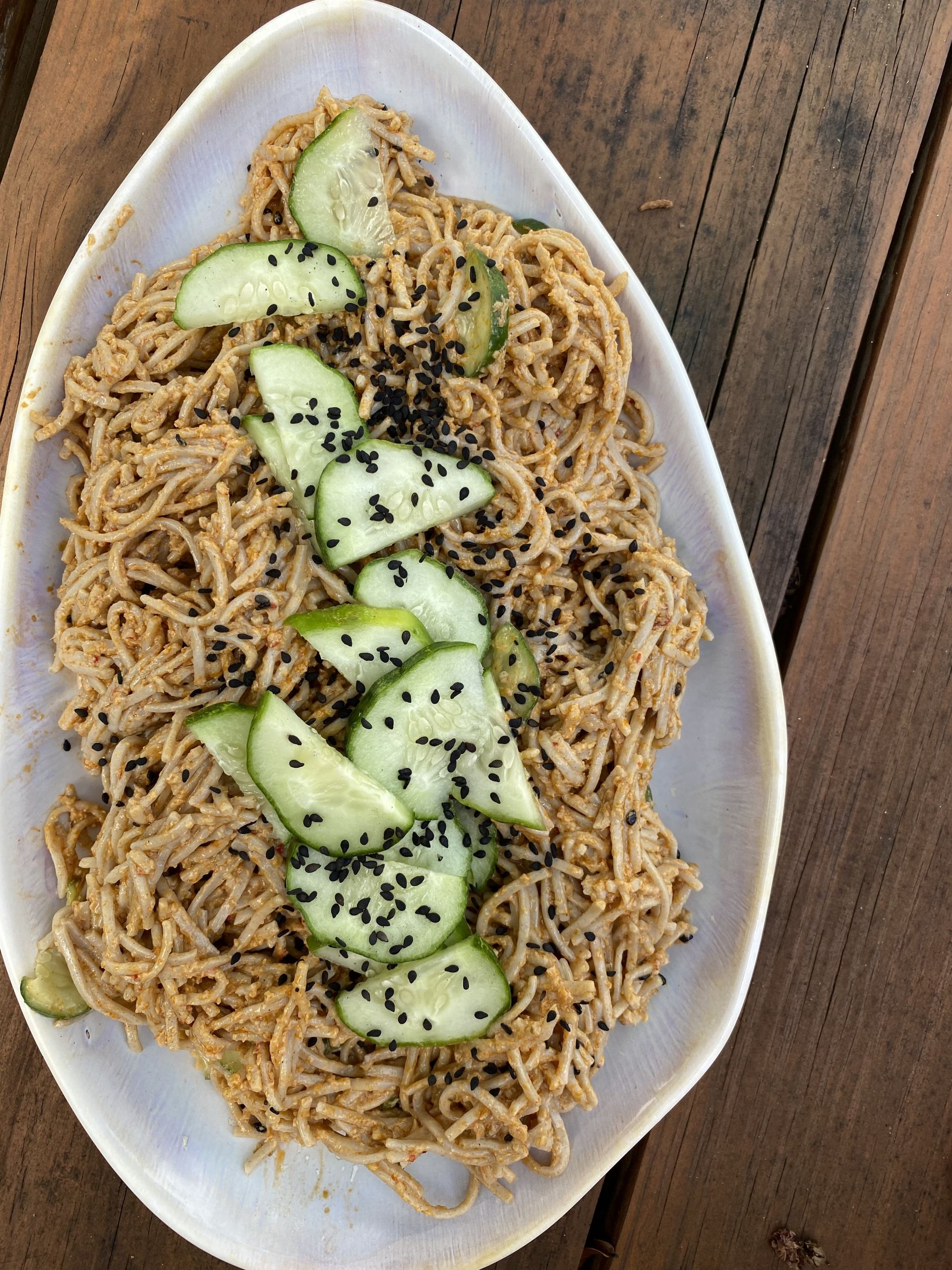 Spicy Peanut Butter Kimchi Noodles